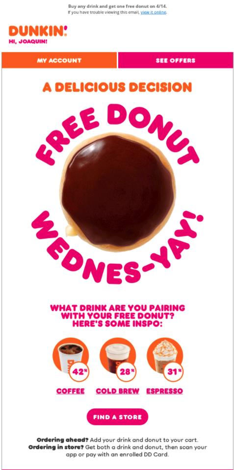 Dunkin' Donuts flash sale