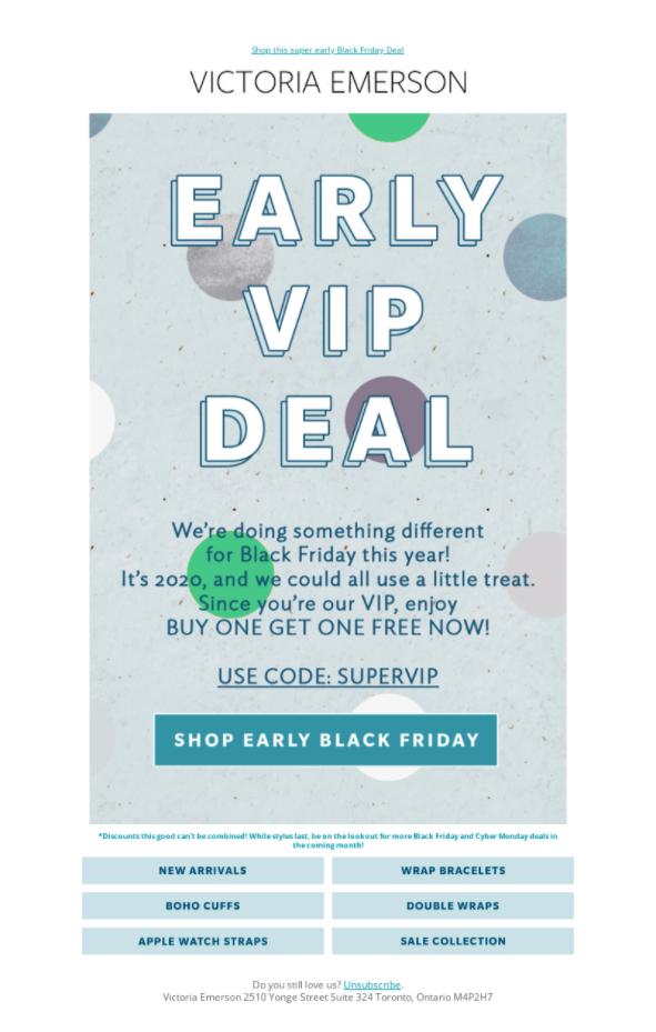 Victoria Emerson VIP BOGO offer