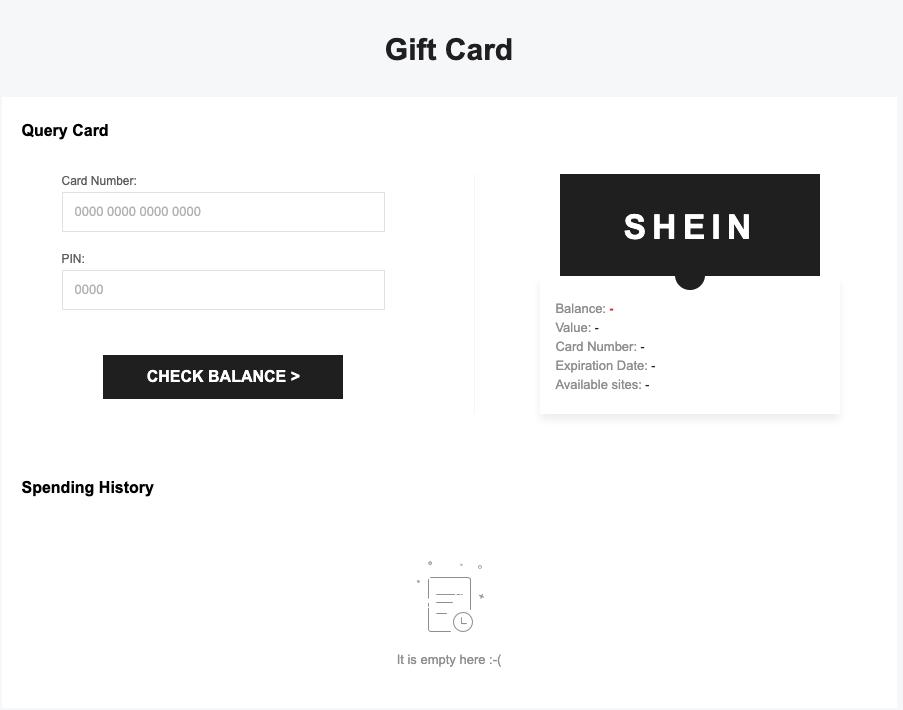 Shein customer portal 5 gift cards