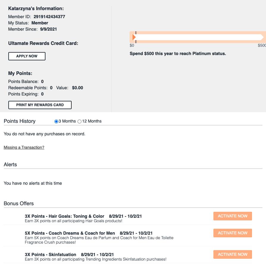 Ulta customer portal