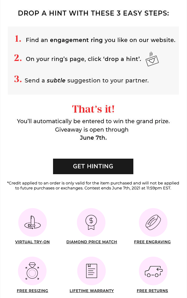 Gift card campaigns