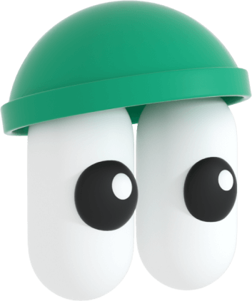 An illustration of a character wearing a green beanie
