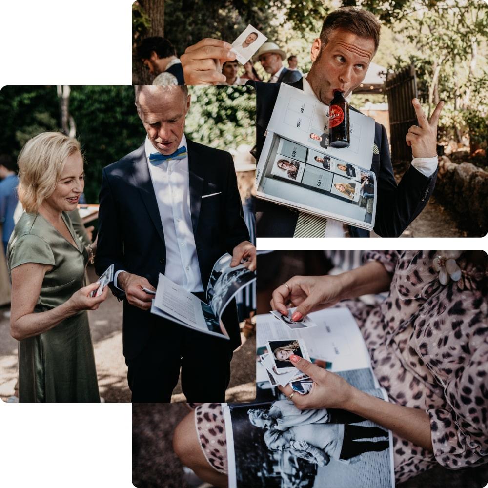 Collage mit Hochzeitsimpressionen