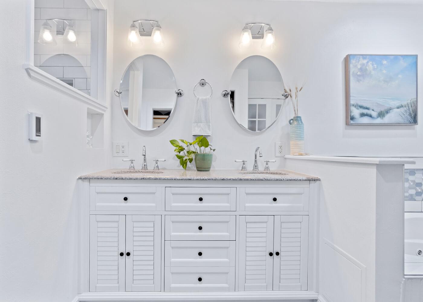 White Bathroom Vanity Master Bathroom