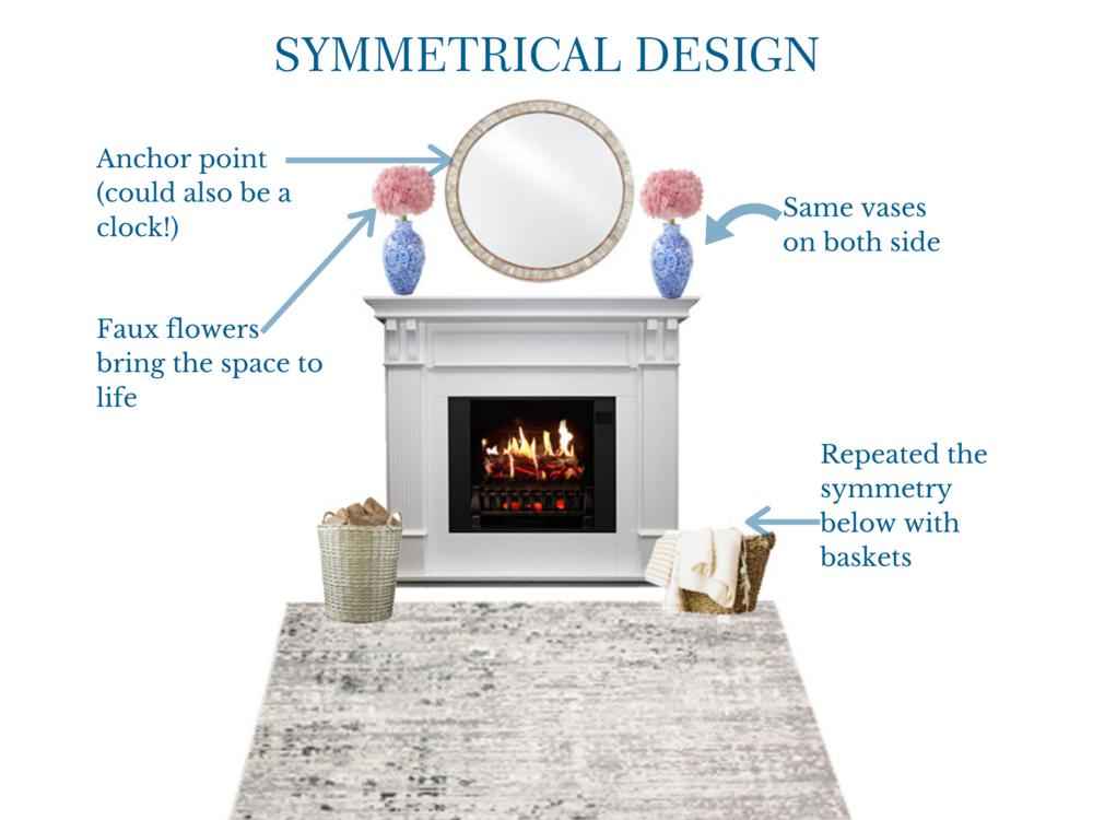 Symmetrical Mantle Design | MLR Design Interiors