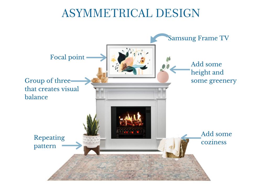 Asymmetrical Mantle Design | MLR Design Interiors