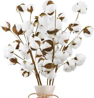 Cotton for mantle decor