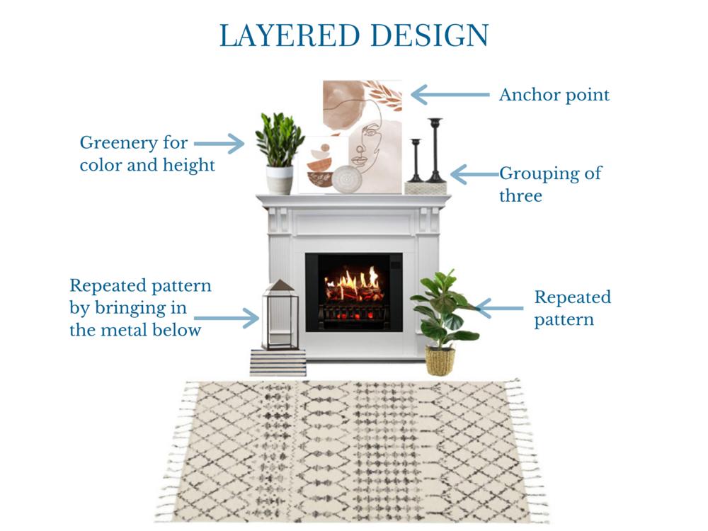 Layered Mantle Design | MLR Design Interiors