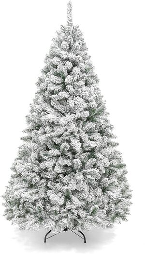 Glam Christmas Decor Flocked Tree