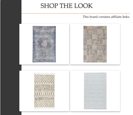 Shop the Look   Wool Area Rugs   MLR Design Interiors