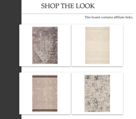 Shop the Look   Blended Area Rugs   MLR Design Interiors