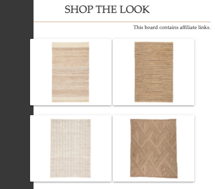 Shop the Look   Natural Area Rugs   MLR Design Interiors