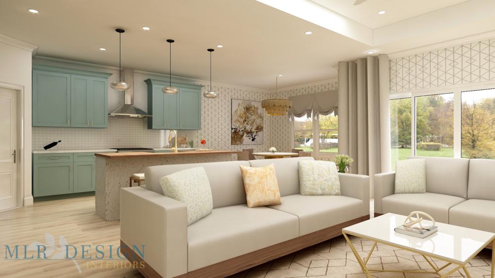 Transitional Living Room | MLR Design Interiors