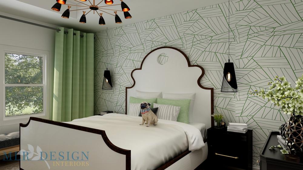 Transitional Bedroom | MLR Design Interiors
