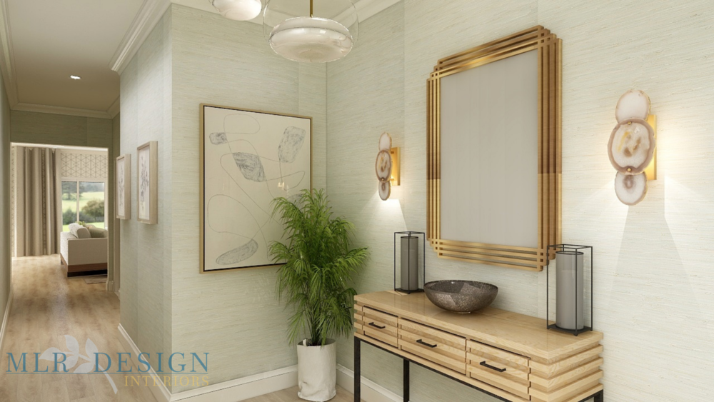 Transitional Entryway | MLR Design Interiors