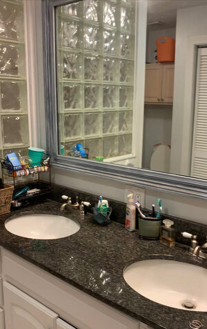 Before photos | Coastal bathroom remodel | MLR Design Interiors