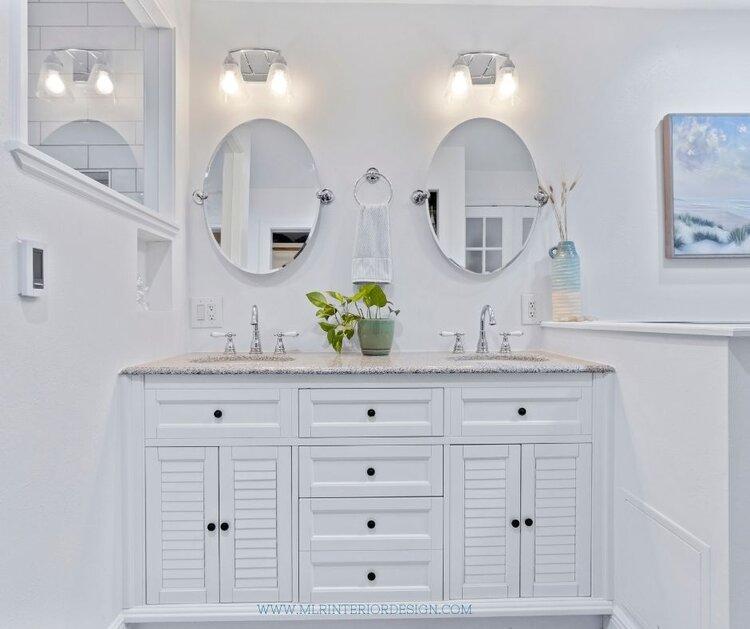 Coast bathroom vanity | MLR Design Interiors