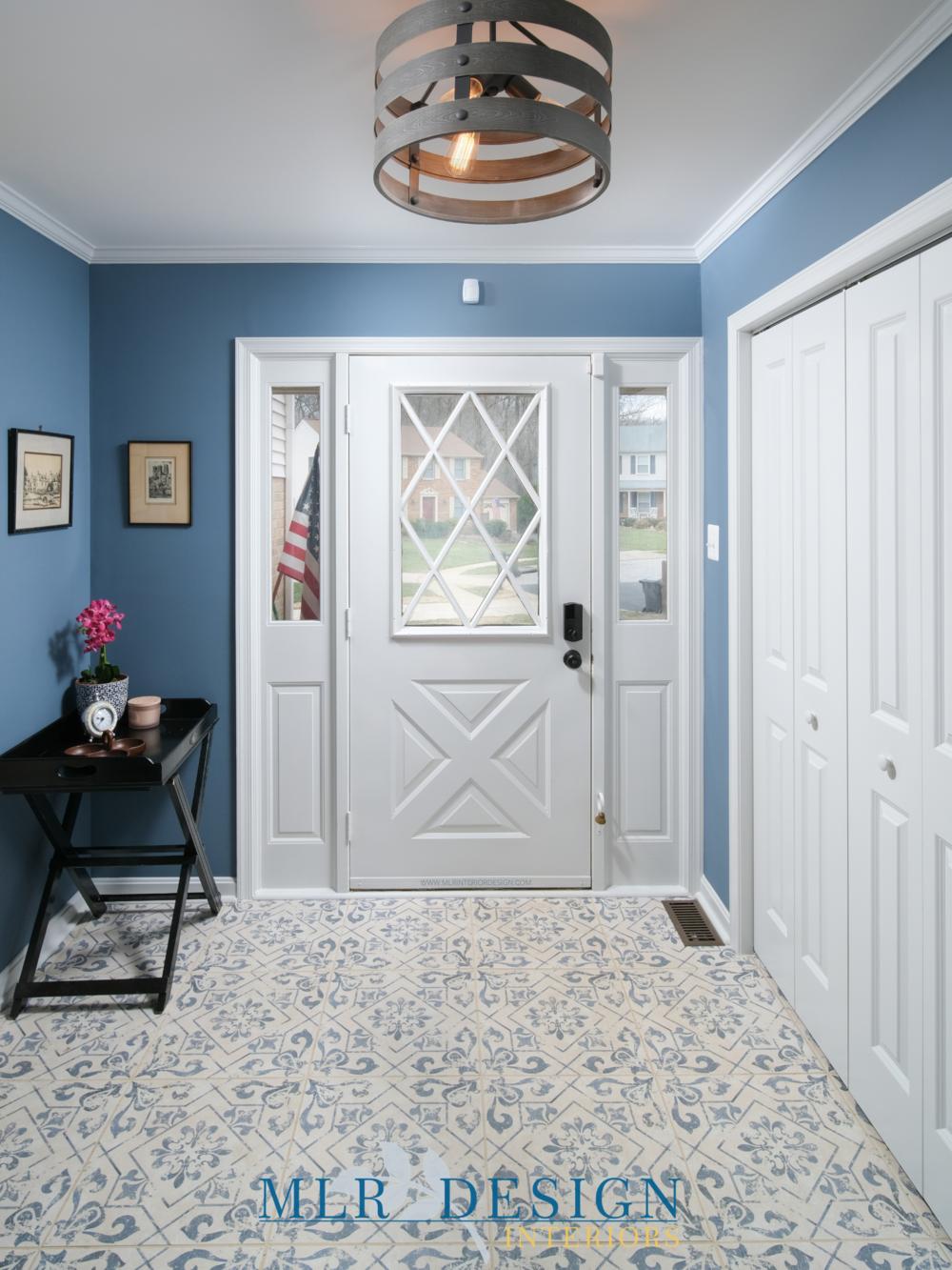 Entryway with Tile | MLR Interior Design