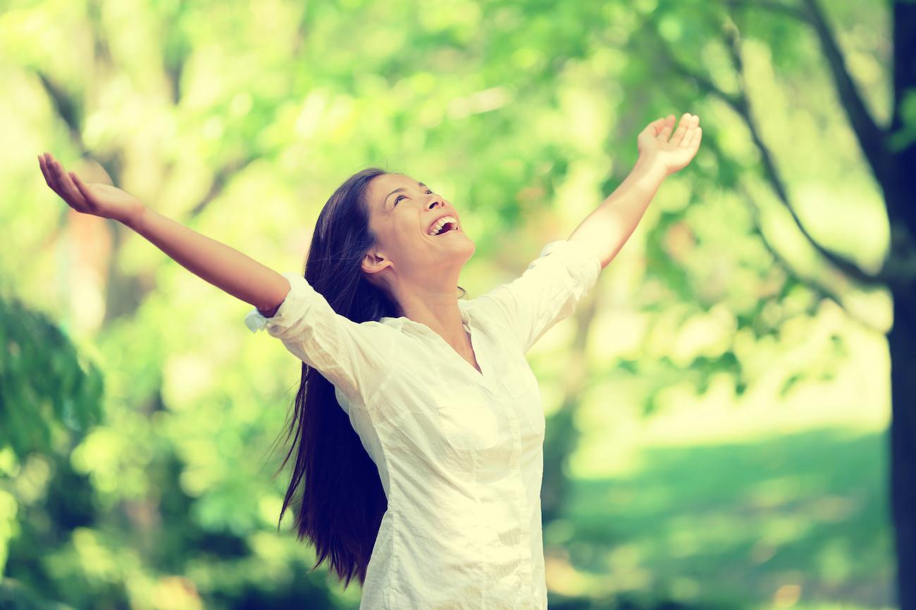 woman feeling relief
