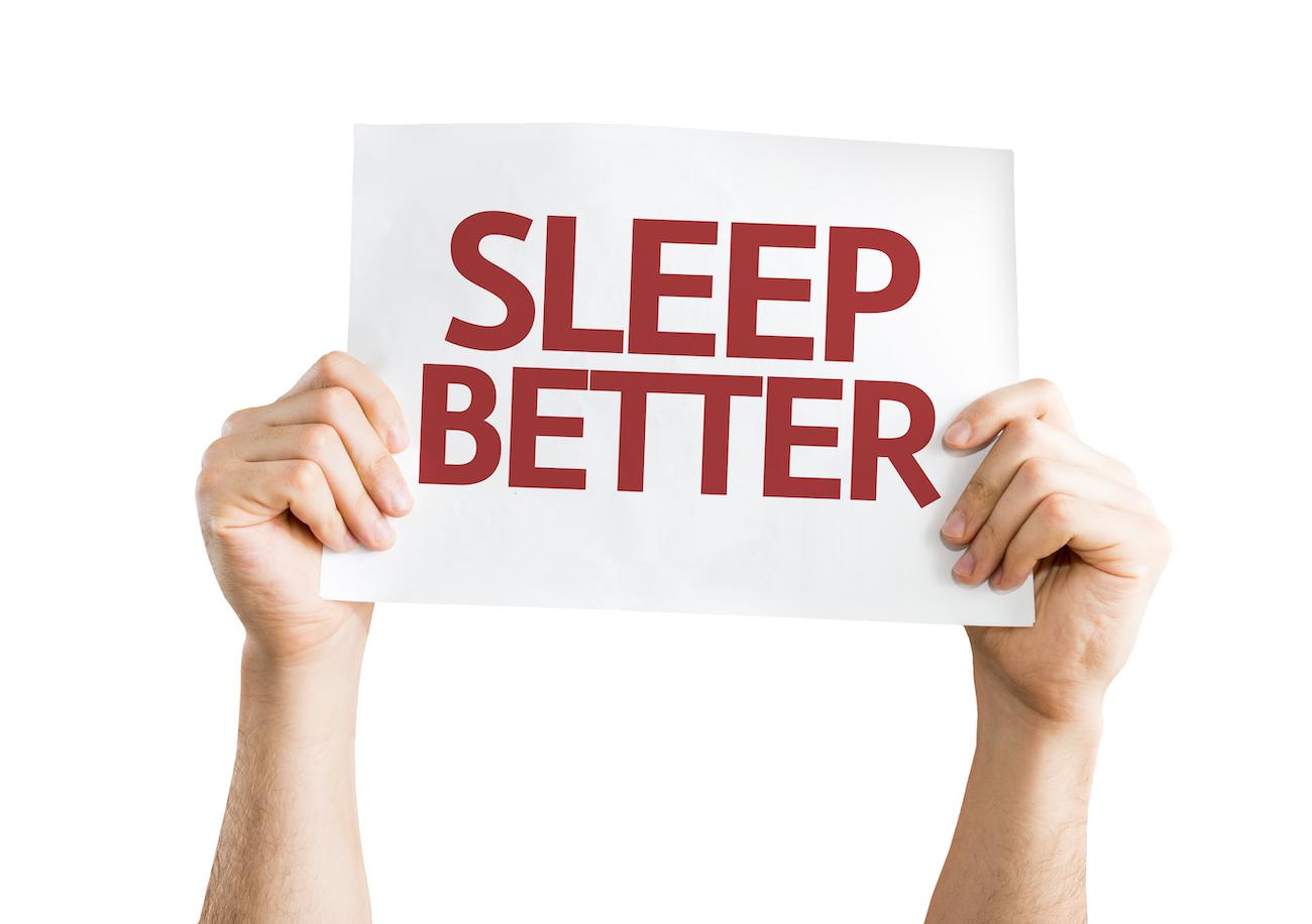 sign says sleep better
