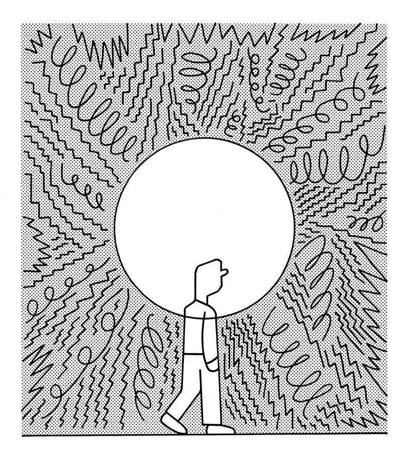 illustration of man walking