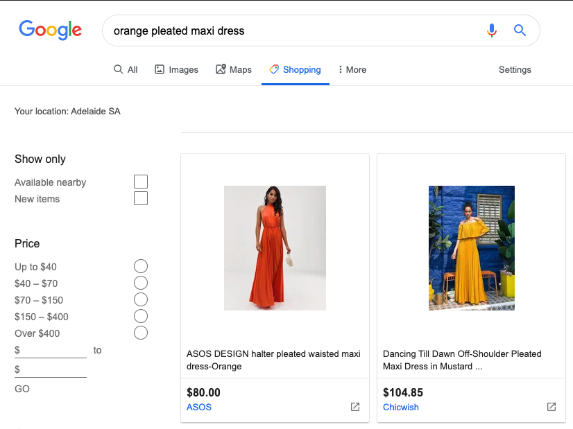 You Have Google Smart Shopping, Now What? - Dress Search
