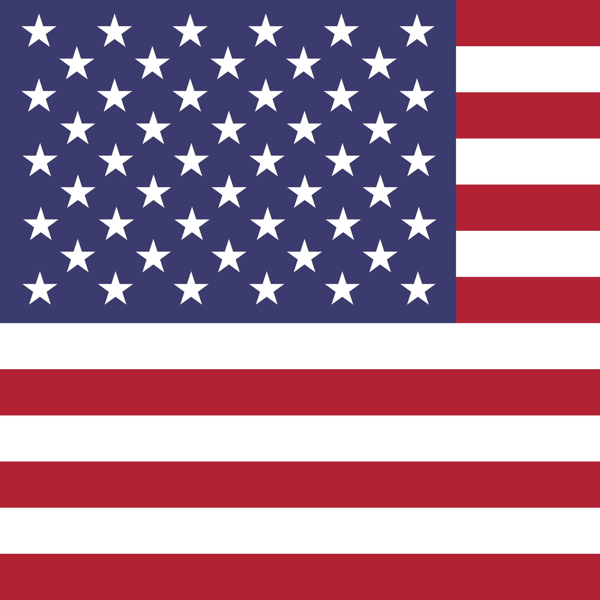 U.S.A. flag in square format