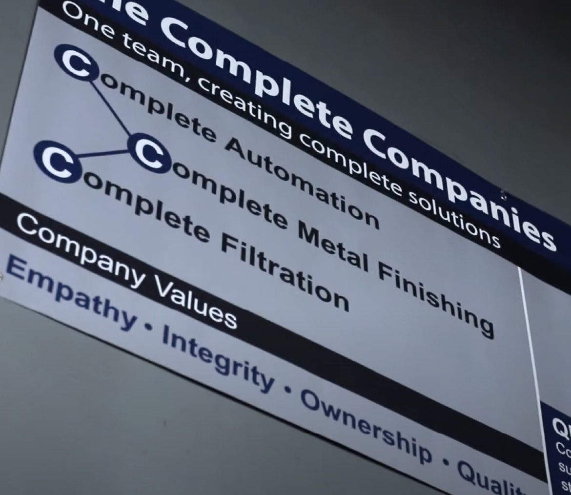 complete companies purpose and values