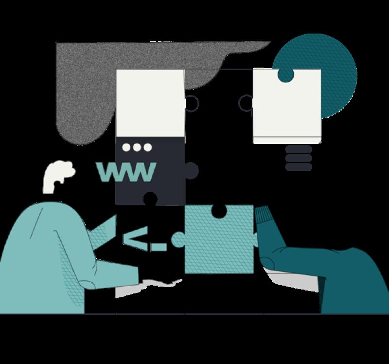 Webflow agentur illustration