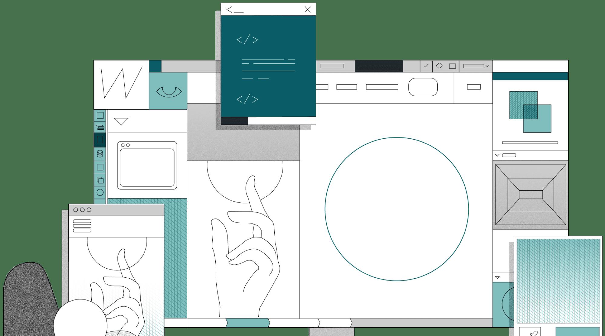 webflow agentur header Image