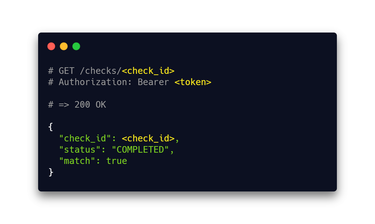Pseudocode showing a Check URL being requested by a mobile device.