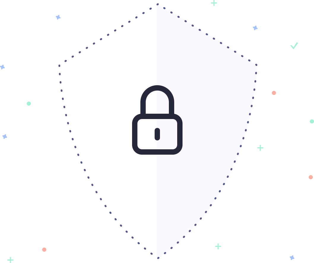 Shield with a lock