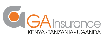 Logo for GA Insurance, one of the largest and oldest insurance providers in Kenya, that bundles rescue.co into select insurance packages