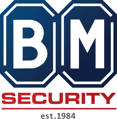Logo for BM Security, or Bob Morgan Security Company, a major provider of security and guarding services throughout Kenya