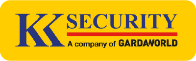 A logo for KK security, which is a security company in Kenya belonging to the Guardaworld group