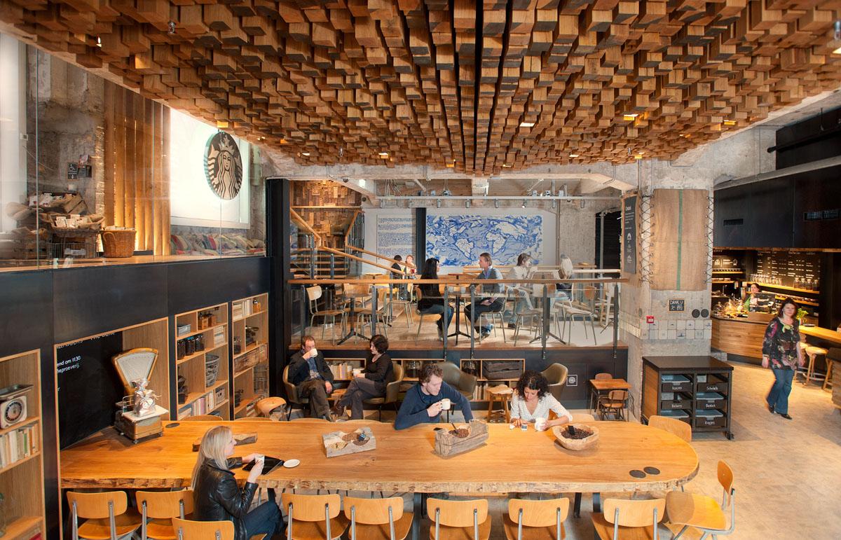 Amsterdam Starbucks interior