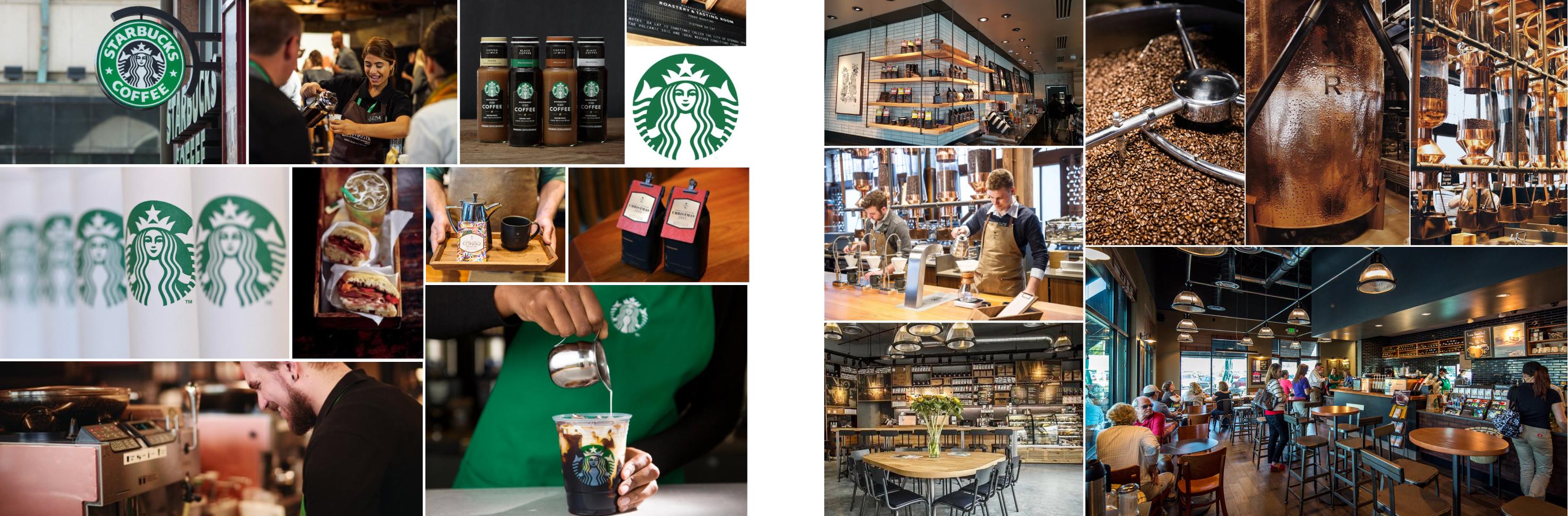 Starbuck brand identity and Interior Identity Board