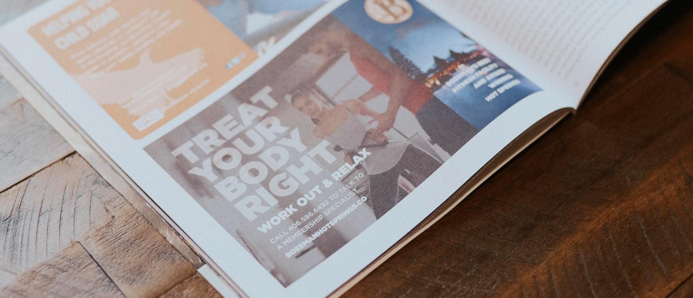 Bozeman Hot Springs Magazine Ad