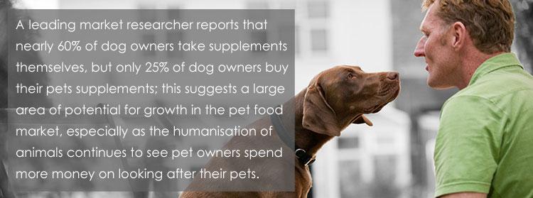 dog man pet nutrition quote