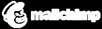 Mailchimp white logo with grey background