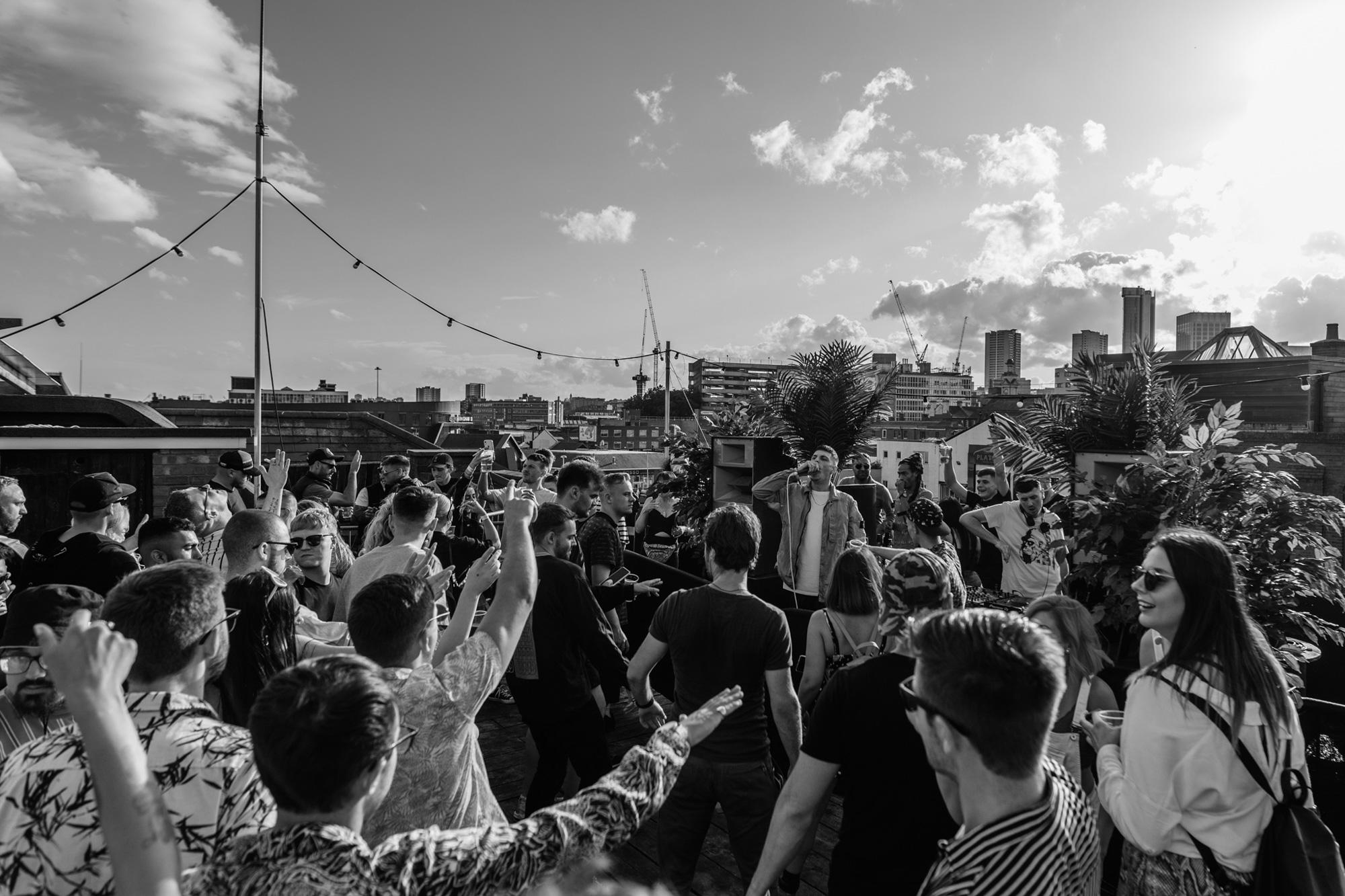 Rooftop Crowd Shot