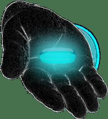 left hand blue pill