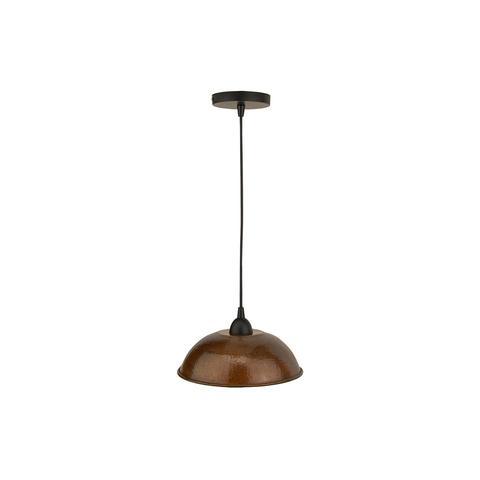 Copper pendent lighting fixture