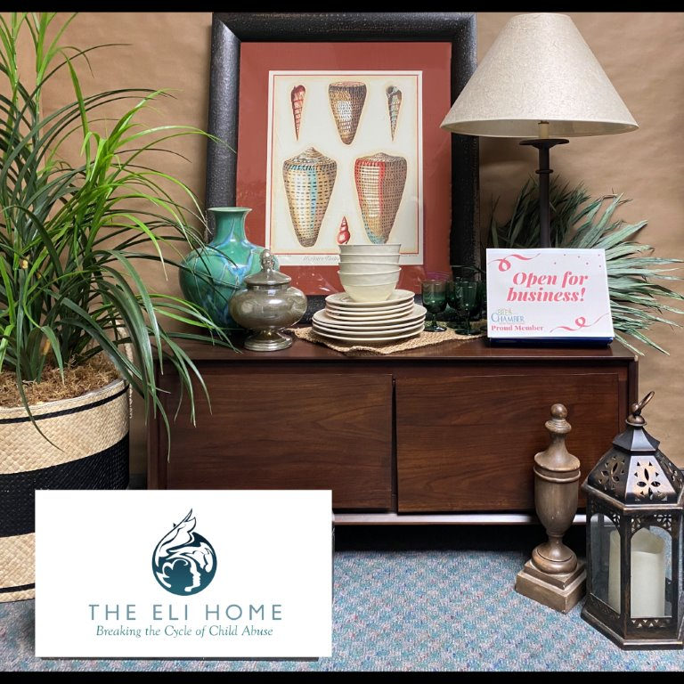 Image of thrift items at the Eli Home Store.