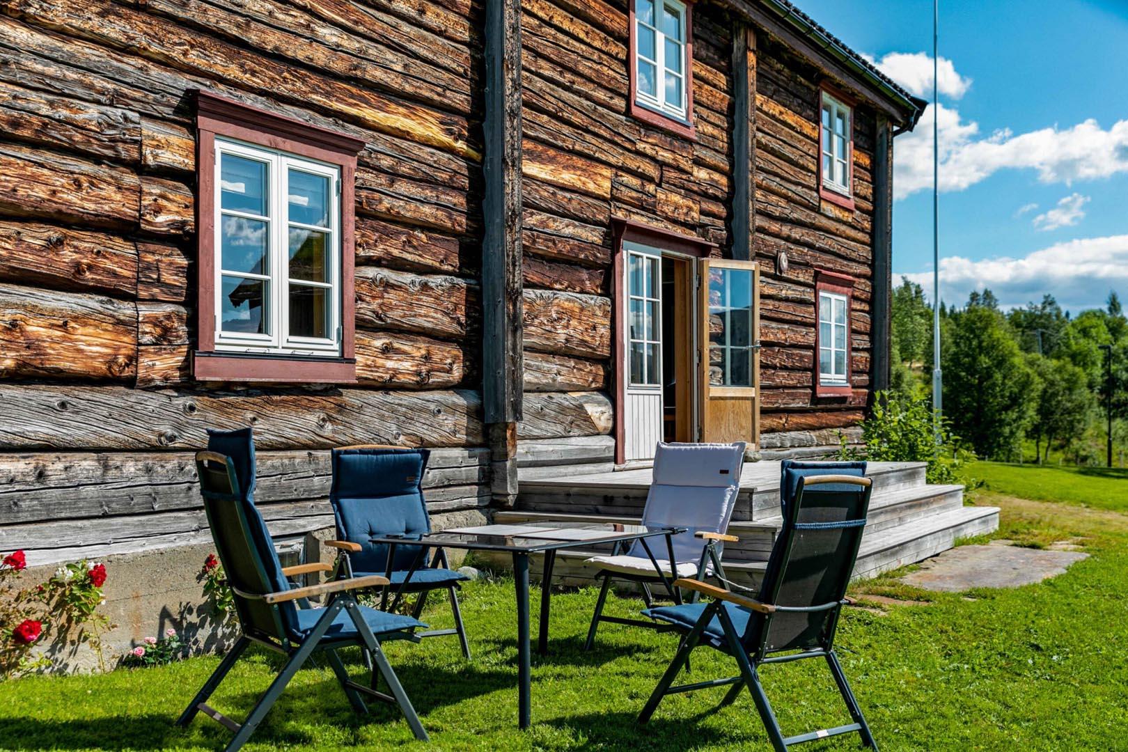 Bilde av et hytte.