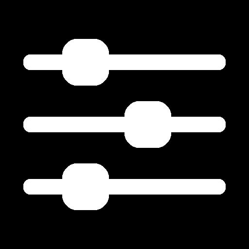 white filter icon