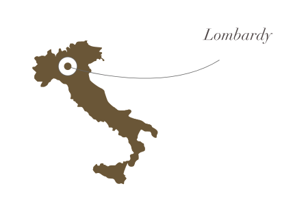 Image of Italy with Lombardy label