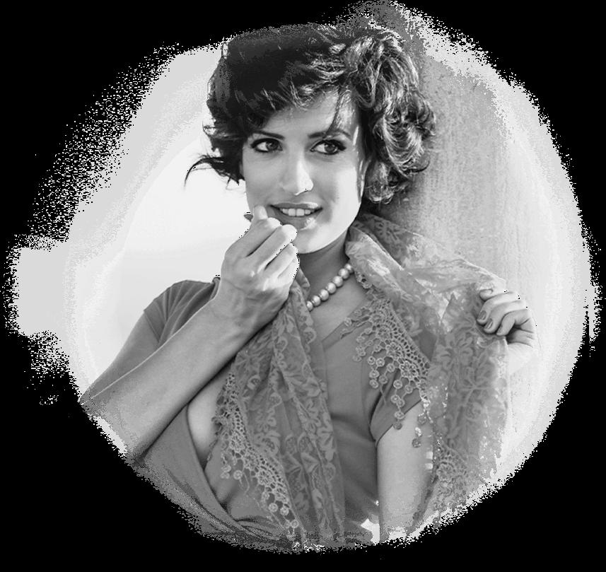 Black & white Italian woman