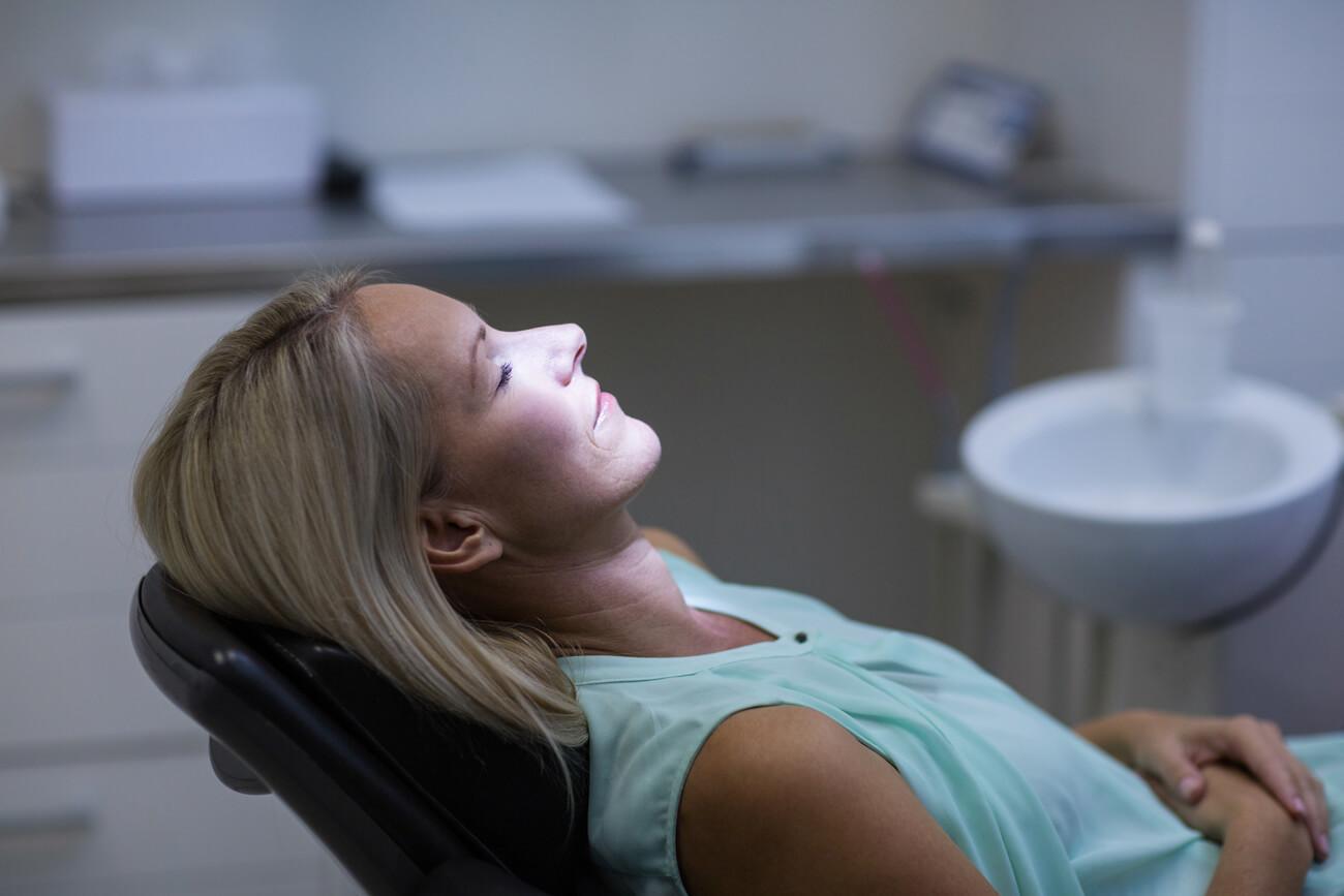 Woman before dental sedation