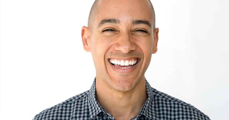 Man smiling after dental treatment